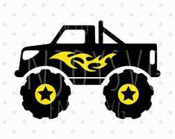 monster truck svg file truck svg file birthday truck cut
