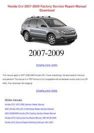 100 workshop manual for 2006 honda crv list manufacturers
