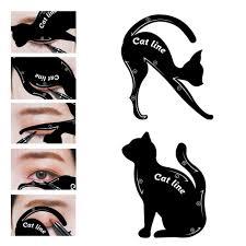 cat eye eyeliner stencil makeup eyes liner stencil models