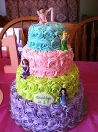 fairy colorful birthday cake i would use disney princesses and