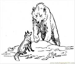 bear wolf coloring coloring free wolf coloring