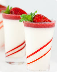 honey vanilla bean panna cotta with strawberry gelee recipes