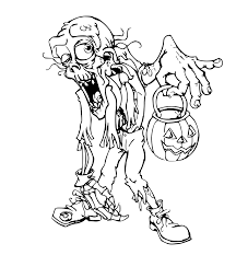 halloween zombie coloring pages getcoloringpages com