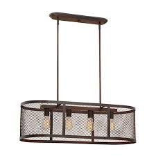 Linear Island Lighting by Shop Millennium Lighting Akron 36 In W 4 Light Rubbed Bronze