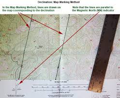 declination map the of teaching map and compass paper
