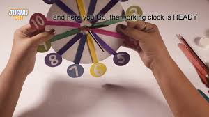 diy crafts for kids paper clock craft work with waste