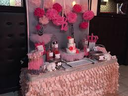 princess in paris themed baby shower sweets table designed by glam