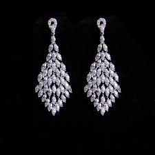wedding earrings chandelier bridal l bridal earrings wedding earrings chandelier