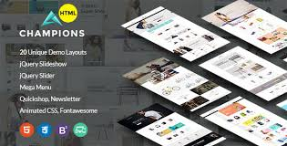 champion multipurpose ecommerce html5 template template stock