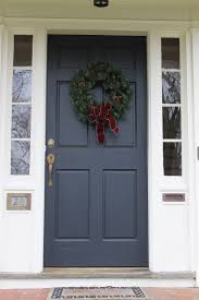 Red Front Doors Navy Front Door With White Side Panels Curb Appeal Pinterest