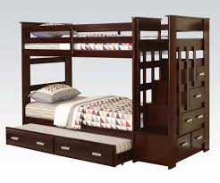 Allentown TwinTwin Bunk Bed With Trundle  Storage Drawers In - Espresso bunk bed