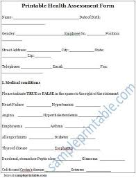 100 nursing assessment template blank medical forms