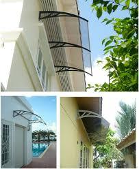 Polycarbonate Window Awnings Pc Window Canopy Rain Shed Door Shelter Polycarbonate Door Canopy