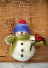 make a felted snowman craft snowman crafts needle felting and