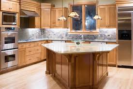 Maple Cabinet Kitchen What Color Floors Match Light Maple Cabinets In The Kitchen Hunker