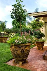 wicker rattan novelty outdoor pots and planters landscape