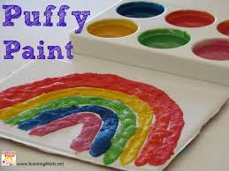 how to make puffy paint learning 4 kids