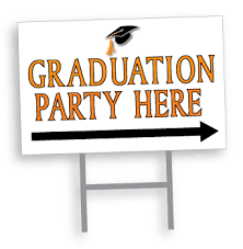 graduation sign custom designed graduation party yard signs digitally printed in