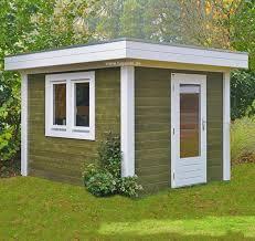 gartenhaus design flachdach gartenhäuser blockhäuser maßarbeit möglich lugarde