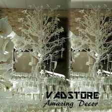 4ft white spray manzanita tree wedding centerpiece table reception
