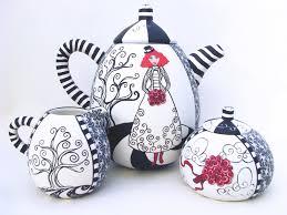 ode to night circus a millefiori tea set by 2012 circle craft