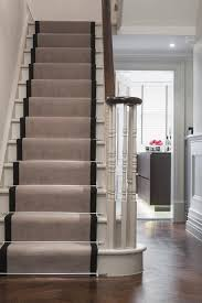 modern stair runner staircase traditional with white wainscoting