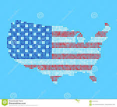 Usa Map Vector by Stylized Usa Map Stock Vector Image 91070243