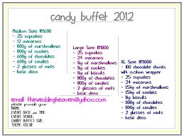wedding planner pricing the wedding heaven candy buffet new price items