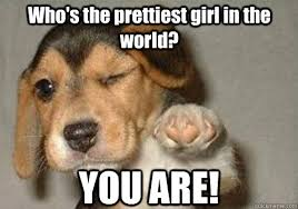 Beautiful Girl Meme - you are who s the prettiest girl in the world winking pointing