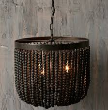 bead chandelier wood beaded chandelier look 4 less and steals and deals