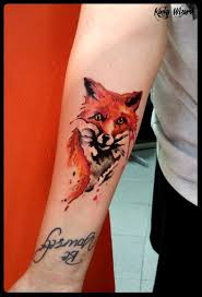 75 best watercolour fox tattoo images on pinterest drawings