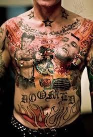 gun piercing n gangsta gun on chest