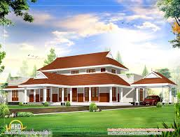 beautiful sloping roof house design plan 2983 sq ft kerala