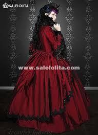 Halloween Costumes Victorian 19th Century Wine Red Marie Antoinette Renaissance Vampire