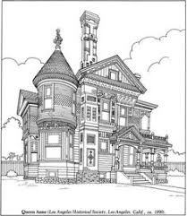 coloring pages houses victorian house coloring page colouring buildings houses