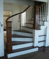custom staircase farmhouse staircase with winder treads
