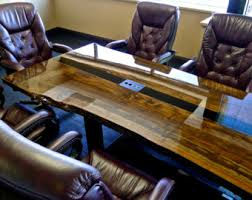 Square Boardroom Table Conference Table Etsy