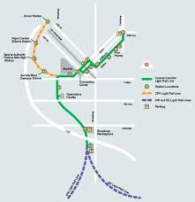 denver light rail expansion map denver light rail map map of the central corridor light rail line