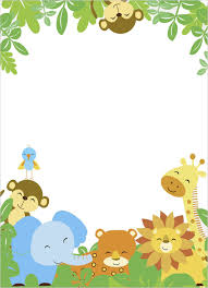 safari themed baby shower invitation templates ilcasarosf com