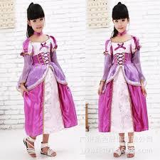 Children Christmas Halloween Costume Purple Mini Dress Barbie