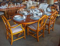Yew Dining Room Furniture Bradley Yew 7 Pc Dining Set New England Home Furniture Consignment