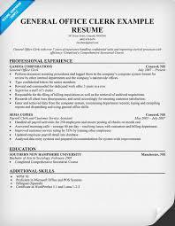office clerk sample resume entry level office clerk resume sample