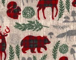 woodland fabric etsy