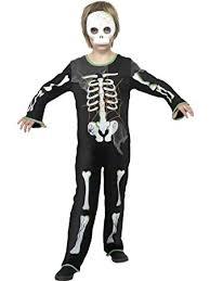 kids scary spider skeleton halloween fancy dress costume