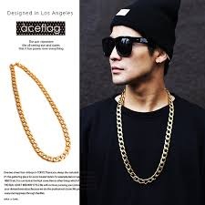 long gold link necklace images 10mm 29 5 quot gold color solid miami cuban link chain man woman hip jpg
