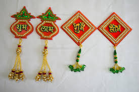 Designs Of Wall Hanging With C D Diy Diwali Shubh Labh Door Hanging Wall Decor Making Tutorial