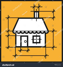 house drawing building private property redevelopment stock vector