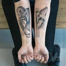 half half cat tattoos best ideas gallery