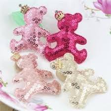 hair bow center 20pcs lace pearl bow decorated glitter christmas hat shape