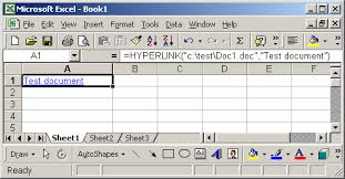 ms excel how to use the hyperlink function ws